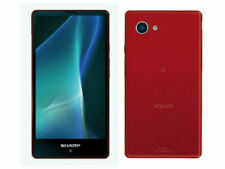 SHARP AQUOS MINI SH-M03 Android Compact Phone 4K Unlocked Japan Red used