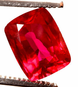 14.45 Cts Natural Mozambique Red Ruby Antique Cushion Shape Certified Gemstone