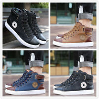 High-end fashion casual high-top men's shoes British outdoor shoes running shoe