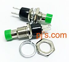 Green Mini Momentary On/Off Micro Switch 2pins 0.5A x 1pc