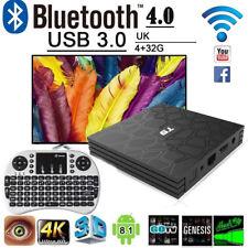 T9 4GB+32GB Android 8.1 TV Box 4K Smart HD Media Player WI-FI Bluetooth + Keypad
