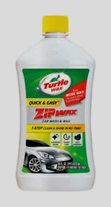 Turtle Wax ZIP WAX Liquid Car Wash Detergent Soap Quick Wash & Wax 16 oz T75A