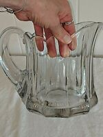 """Heisey Glass Colonial Crystal Pitcher 7 3/4"""" Tall , 6"""" Wide, 9"""" Long"""