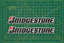 "PNEUMATICI BRIDGESTONE LOGO Rally Touring Car Sticker 4"" Coppia Race Moto Classic"
