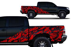 Maßgefertigt Vinyl Aufkleber Nightmare Wrap Für 4D Kurz Bett Toyota TACOMA Truck