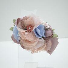 Pinzetta Con Applicazione Di Fiori E Seta Rosa Bambina Carmy CT2009