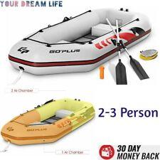 Fishing Kayak Boat Inflatable Kayak 2 3 Person Set High Pressure Air Pump Gray