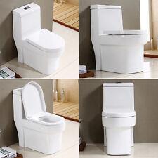 Luxury Modern White Standard D Shape Heavy Duty Soft Close Top Fix Toilet Seat