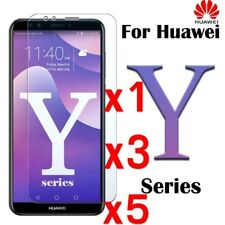 5X Tempered Glass Screen Protector For Huawei Y3 Y5 Y6 Y7/Y7 Prime Y9 2018&2017