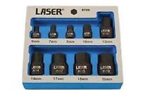 Laser Tools Low Profile Hex Socket Bit Set 9 Pieces - 6726L