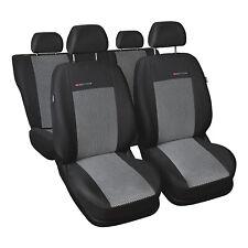 Negro-azules gamuza fundas para asientos para renault scenic 1 asiento del coche delante de referencia