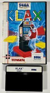 SEGA Master System KLAX Puzzle/Tetris/Columns/Puyo Pop/Retro/Pixel