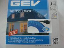 GEV Lichtschlauch blau 6m-Lichtleiste mit Anschlussleitung für Innen /außen