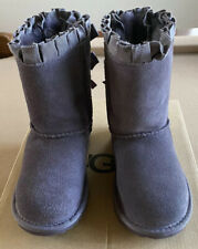 UGG Toddler Bailey Bow Ruffles Brown Boots