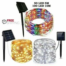 Waterproof LED Solar Fairy String Lights Copper Wire Outdoor Garden Party Lamp
