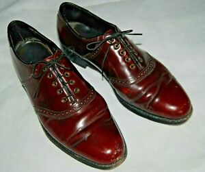 Florsheim Imperial Mens Dress Shoes Oxfords Lace Ups Maroon 10.5 Leather 93328
