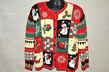 Women's Ugly Christmas Sweater Buttons Size L Heirloom Collectibles Women 2003