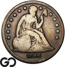 1846 Seated Liberty Dollar, Sought After Silver $ Series