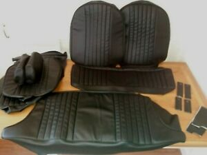 mgb gt SEAT COVERS.for SEATS reclining & headrests. black vinyl fits 1970 to 81