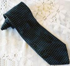 Rare! Vintage! Brioni Italy 100% Silk Navy Blue w/ Yellow Dots Design Tie