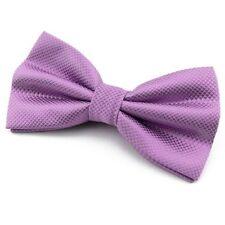 Noeud Papillon Homme ou Femme Violet clair soie mélangée - Silk Purple Bow tie
