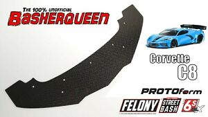 Basherqueen Carbon Fiber Front Splitter Arrma Felony PROTOform Corvette C8 Body