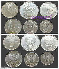 Lots 6pcs Indonesia Coins money Collections brand new coin money Uncirculated