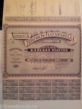 LITOGRAFIA Accion al portador Sucesores de TIBURCIO SANTAMARIA S.A BURGOS 1942