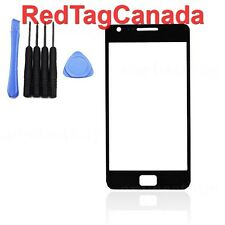 Digitizer Touch Screen Outer Glass for Samsung i9100 Galaxy S2 II Black + Tools