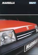 Seat Marbella Prospekt 6/90 12 S brochure 1990 Auto PKWs Autoprospekt Broschüre