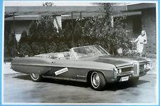 "1968 Pontiac Bonneville Convertible Top Down 12 X 18"" Black & White Picture *"