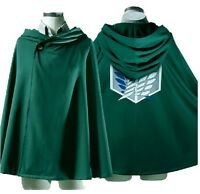 Free size Anime Shingeki no Kyojin Attack on Titan  Cloak Cape clothes cosplay
