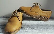 Señoras Cómodos Marrón De Colección Clarks Wallabee stitchcraft zapatos talla 6