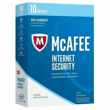 McAfee Internet Security 2017 10 Devices 1 Year