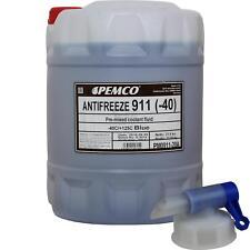 20L Pemco Antigel Liquide Type G11 Bleu Fertiggemisch + Robinet