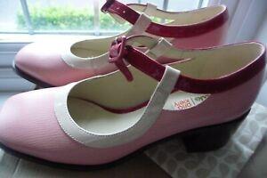 Orla Kiely Orla Amelia women's pink leather shoes size 7 new with box