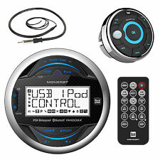 Dual MGH25BT Marine Gauge Bluetooth Radio, Wired Remote, Marine AM FM Antenna