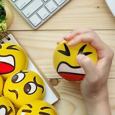 1 Pc Yellow Smiley Face Stress Relief Foam Balls Party Gifts Toys Favours