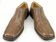 New NORDSTROM Mens Brn Leather Flat Slip On Casual Comfort Dress Loafers Sz 11 D