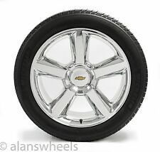"NEW Chevy Silverado Avalanche GBT Chrome 22"" Wheels Rims Michelin Tires 5308"