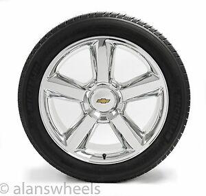 "NEW Chevy Silverado Avalanche GBT Chrome 22"" Wheels Rims Michelin Tires 5308"