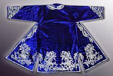 Stunning Uzbek Silk Embroidered Robe Chapan With Stallions V1799