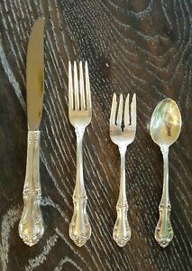 4 Piece Place Setting International Sterling Silver Joan of Arc Fork Spoon Knife