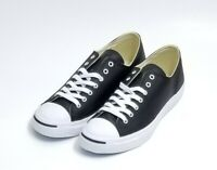 Converse Jack Purcell OX Mens Size 10 Casual Low Top  Black/White Leather 1S962