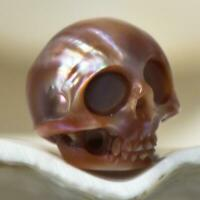 11.16 mm Human Skull Bead Carving Kasumi-like Freshwater Pearl 1.75 g drilled