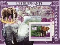 Guinea Elephants Stamps 2009 MNH African Elephant Wild Animals Fauna 1v S/S