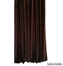 "Brown Velvet Curtain 96"" H Acoustic Noise/Sound Dampening Drape Thermal Panel"