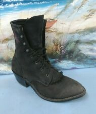 Ariat Womens  black Lace Up Riding Boot With Kiltie, Suede leather size 6 M 9178