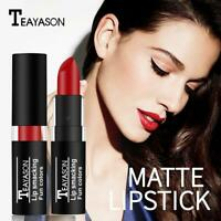 12Colors Lip Gloss Makeup Lip Matte Lipstick Long Lasting Liquid Best P7P4