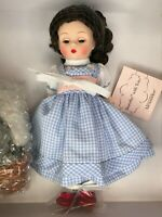 """Madame Alexander Dorothy with Toto Doll 46360 Sleep Eyes Wizard of Oz Boxed 8"""""""